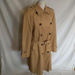 Anne Klein Tan Trench Coat